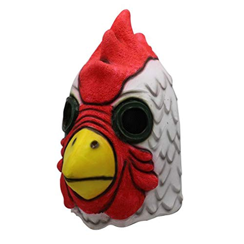 Gmasking 2018 Exclusive Latex Cartoon Rooster Head Halloween Chicken Costume Mask