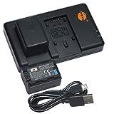 DSTE 2PCS VW-VBK180(2500mAh/3.7V) Batería Cargador Compatible para Panasonic HC-V10,HC-V100,HC-V100M,HC-V500,HC-V500M,HC-V700,HC-V700M,HDC-HS60,HDC-HS80,HDC-SD60,HDC-SD80,HDC-SD90 Digital Cámara