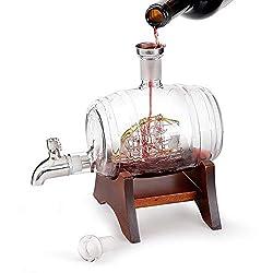 OOFAY Whiskykaraffe Decanter,Perfekt Für Zuhause, Restaurants Und Partys Whiskykenner,Whiskykaraffe Edel Mit Gravur - Personalisierte Whisky-Geschenke Für Männer