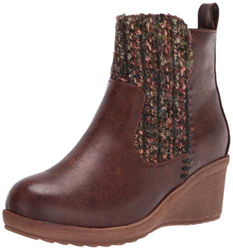 MUK LUKS womens Pull Fashion Boot, Brown, 7 US