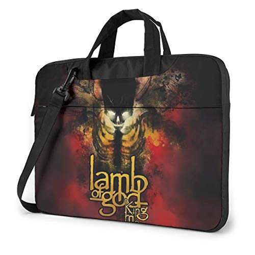 Vsldfjc Music Lamb of God Stylish Customized Laptop Shoulder Bag, Suitable for 13-15.6 inch MacBook Pro/Air and Most Other Laptops, Portable Laptop Bags, Briefcase Protective Covers