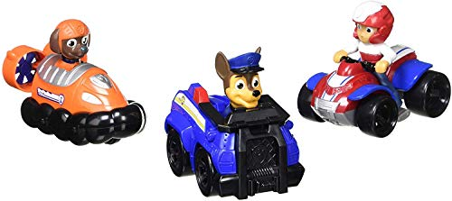 Paw Patrol -  Chase, Zuma, Ryder Rescue Racers Vehicle Set 3pk