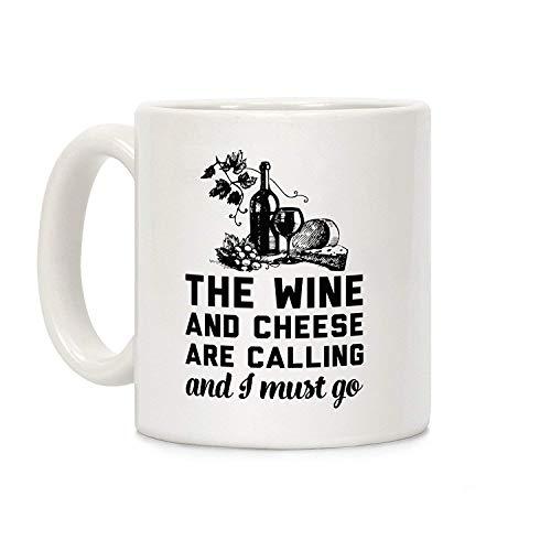 Maureen52Dorothy de wijn en kaas bellen en ik moet gaan koffie mokken novelty 11 Oz witte keramische mok, mok voor mama, voor papa