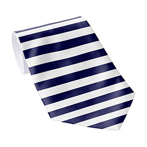 Corbata clásica de los hombres corbata azul y blanco horizontal rayas corbatas de los hombres corbata