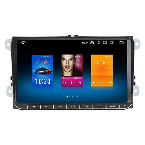 JALAL Android 10.0 Unidad Principal Carplay para VW Polo Golf EOS Tiguan Touran Passat Scirocco 2006 a 2015 Dab Estéreo para automóvil con Bluetooth Pantalla IPS de 9'Sin DVD Navegación GPS