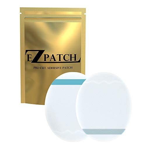 EZPatch for Enlite, Guardian, Libre Adhesive Patches; Hypoallergenic Waterproof CGM Tape; Libre Sensor Covers Waterproof Adhesive; Oval Adhesive Patch; No Hole Clear Patch 20 Pcs