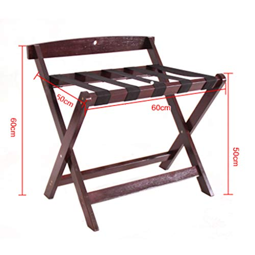 Best Review Of Solid Wood Luggage Rack Hotel Living Room Bedroom Multi-Function Luggage Rack Foldabl...