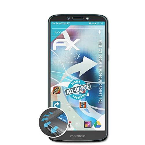 atFolix Schutzfolie kompatibel mit Lenovo Motorola Moto E5 Plus Folie, ultraklare & Flexible FX Bildschirmschutzfolie (3X)