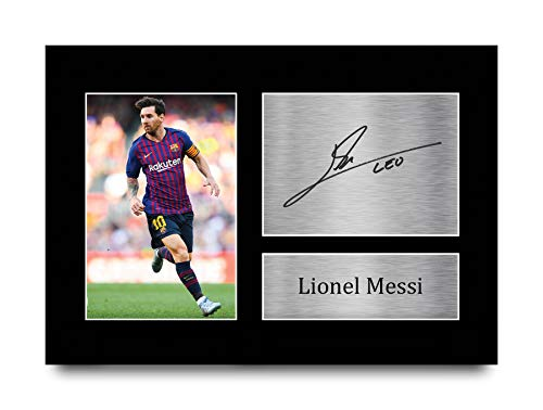 HWC Trading Lionel Messi A4 Unframed Signé Image Autographe