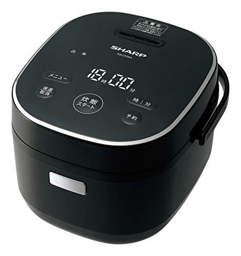 シャープパン調理機能付ジャー炊飯器3合炊きブラックKS-CF05A-B