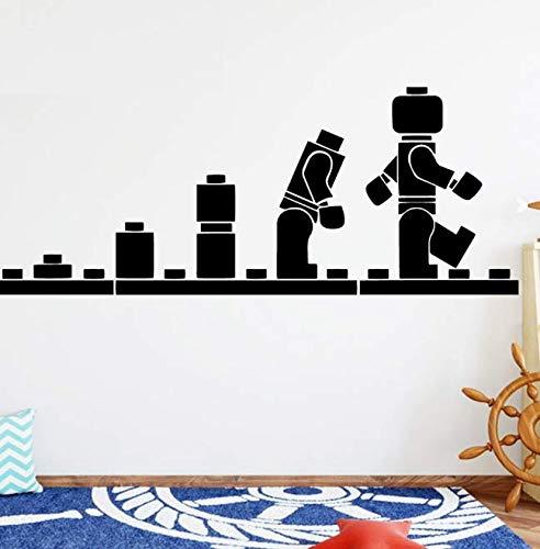Spaß Lego Evolution Roboter Pacman Pvc Wandtattoos Wohnkultur für Kinderzimmer Wandaufkleber Wasserdichte Tapete 57 * 23Cm