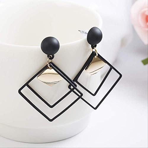 Sieraden voor vrouwenDrop Oorbellen voor dames Sieraden Metaal Geometrisch Populaire oorbellen Oorbellenzwart
