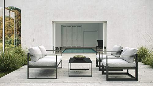 ARTELIA Nemo Aluminium Loungegruppe Loungemöbel Gartenmöbel-Set Sitzgruppe für Garten, Terrasse und Wintergarten, Premium Terrassenmöbel Anthrazit