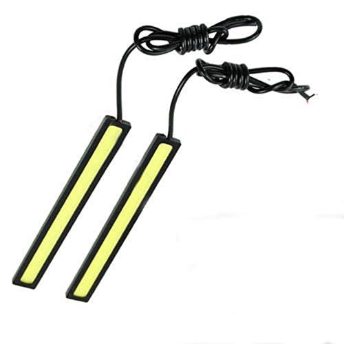 Malayas 2Pcs Luces de Circulación Diurna Universal y Resistente al Agua Lámpara de Alta Potencia 6 W y 12 V con Tiras COB LED Faro Antiniebla para Coche Xenón Blanco