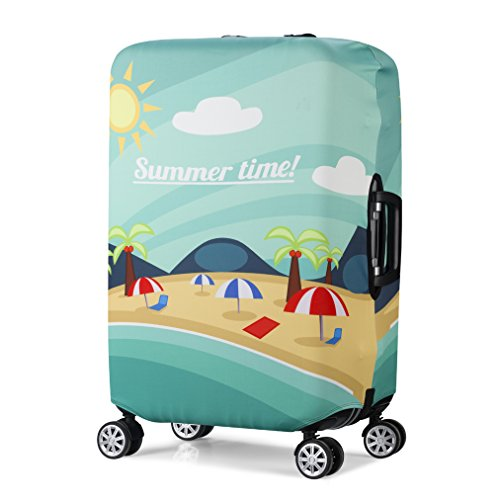 3D Print Beach Design Travel Trolley Case Cover Protector Suitcase Cover 30'-32' Trolley Case Luggage Storage Covers Size XL
