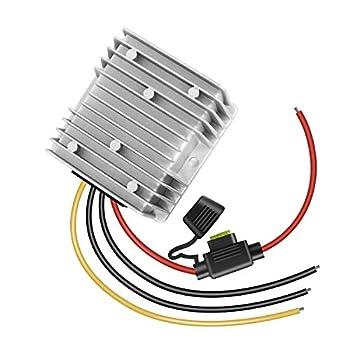 dkplnt 20A 240W 12v Golf Cart 48V 36V to 12V Converter Voltage Regulator Reducer Transformer with Fuse