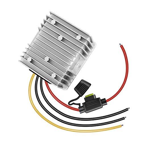 dkplnt 20A 240W 12v Golf Cart 48V 36V to 12V Converter Voltage Regulator Reducer Transformer Waterproof with Fuse