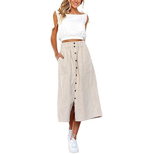 Vectry Faldas Blanco Falda Flamenca Mujer Falda Larga Faldas Cortas Mujer Verano Falda De Tul Falda Tubo Faldas Vaqueras Mujer Faldas Midi con Vuelo Fiesta