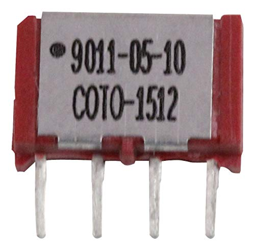9011-05-10 - Reed Relay, SPST-NO, 5 VDC, 9011 Series, Through Hole, 500 ohm, 250 mA, (Pack of 5)