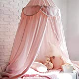 OldPAPA Baby Baldachin Betthimmel für Kinder Bett Hängende Moskitonetz für Schlafzimmer Ankleidezimmer Spiel Lesen Zeit Dekoration für Bett und Schlafzimmer Höhe 240cm(Rosa) - 2