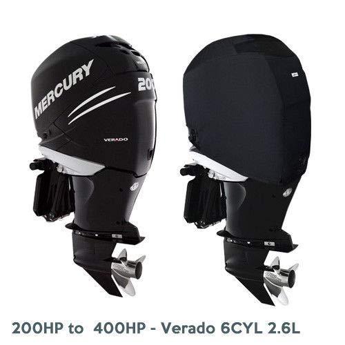 Oceansouth Mercury ventilé Hors-Bord Housse pour Bateau (200HP to 400HP (Verado 6CYL 2,6L))