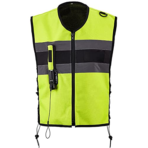 WFGZQ Motorcycle Vest Air-Bag Vest with Reflective Strip for Motorcycles Ride Adjustable Chest Size