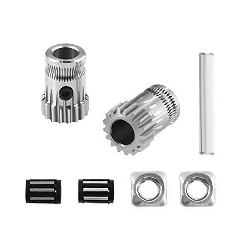 Simple for Kit Dual Drive Gear Extruder Kit Cloned for Btech Upgrade Extruder for Prusa I3 3D Printer Gear for Bowden Extruder Easy to Install and disassemble