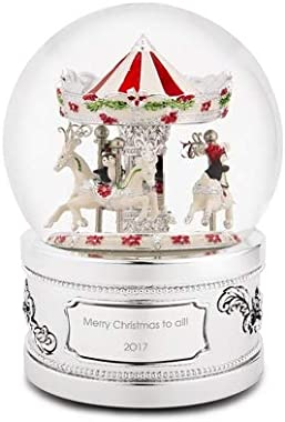 Things Remembered Personalized Penguin Carousel Musical Snow Globe with Engraving Included