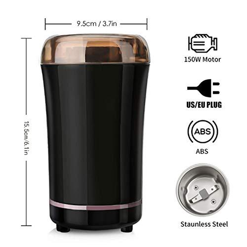 Banbie 400W elektrische Kaffeemühle Mini Küche Salz Pfeffermühle Starke Kaffeebohne Gewürznuss Samen Kaffeebohnenmühle Molinillo Cafe