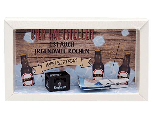 ZauberDeko Geldgeschenk Verpackung Bier Happy Birthday Geschenk Männer Geschenkidee Geburtstagsgeschenk - 2