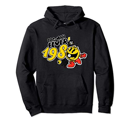Pac-Man Fever 1980 Black Pullover Hoodie, Unisex Adult, S to 2XL