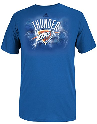 Oklahoma City Thunder Adidas NBA 'Thunder Rolls' Men's T-Shirt Chemise