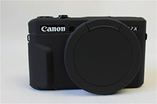 G7 X Mark II Case, BolinUS Fullbody Ultra-Thin Lightweight Rubber Soft Silicone Case Bag Cover for Canon PowerShot G7 X Mark II -Black
