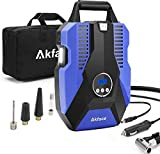 Akface Tire Inflator Portable Air Compressor, DC 12V Digital Air Pump for Car Tires, Bicycles and Other Inflatables, Auto Shut Off Feature