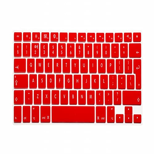 ZHAFG Unione Europea Layout English Keyboard Cover Pelle in Silicone for MacBook PRO 13'15' 17'(con o w/w-out Retina Display) e MacBook Air 13' (Size : Red)
