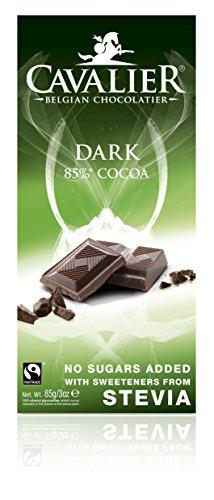 Cioccolato fondente 85% con Stevia e senza aggiunta di zuccheri - 85gr