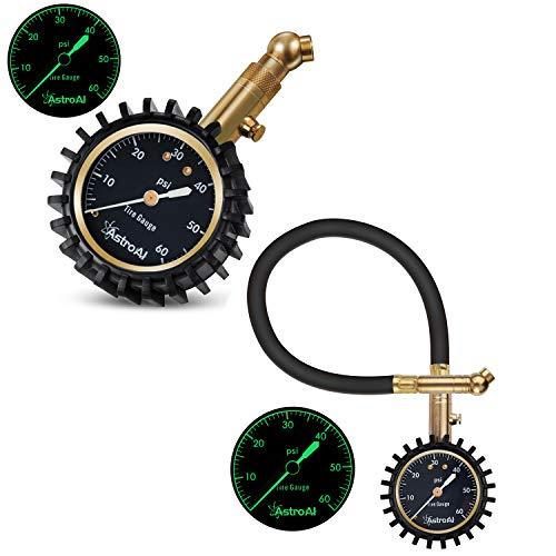 AstroAI Tire Pressure Gauge 60PSI Mechanical Reading Certified ANSI B 40.1