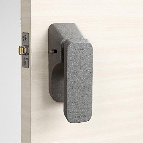 Push Pull One Touch Push Pull Easy DIY Door Knob Handles PPL-1701 プッシュプルプッシュプル簡単なDIYのドアノブPPL - 1701を扱う (Gray) [並行輸入品]