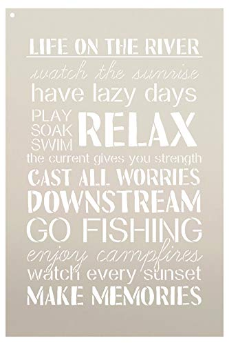 """Life On The River Stencil by StudioR12 