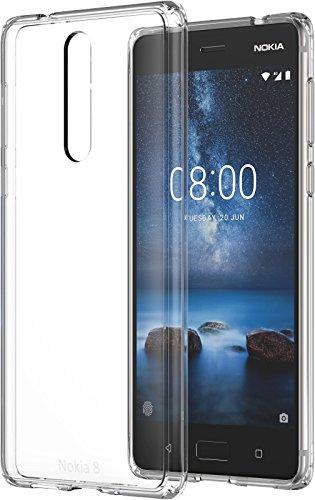 Nokia 1A21PR100VA Hybrid Crystal Schutzhülle CC-701 für 8 Transparent, einfarbig