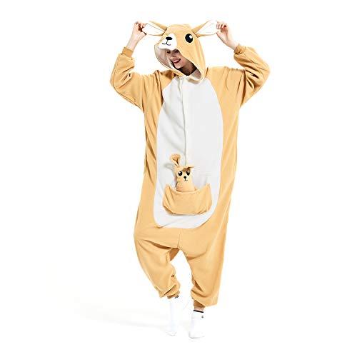kangaroo Onesie Animal Women/Men Adult Costume...