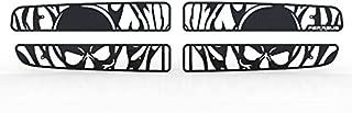 Ferreus Industries Grille Insert Guard Skull Flame Black Powdercoat fits: 1997-2004 Dodge Dakota TRK-112-10-Black-a