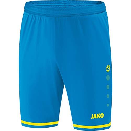 JAKO Kinder Fußballsporthosen Sporthose Striker 2.0, JAKO blau/neongelb, 152, 4429