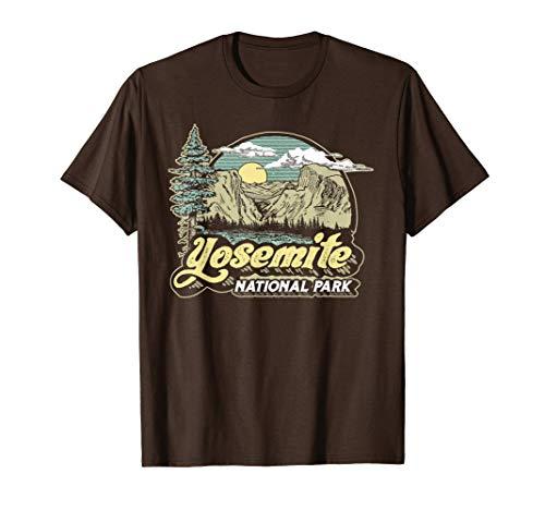 Vintage Yosemite National Park Retro Style Eighties 80s Camiseta