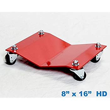 8x16 Heavy Duty Car Dolly Professional Automobile Wheel Skate Shop Garage Premium Easy Roll Automotive /& Equipment Movers 2,500# Capacity Each Full Bearing Non-Mar Casters
