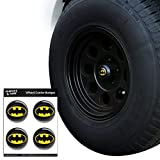 Graphics and More Batman Classic Bat Shield Logo Tire Wheel Center Cap Resin-Topped Badges Stickers