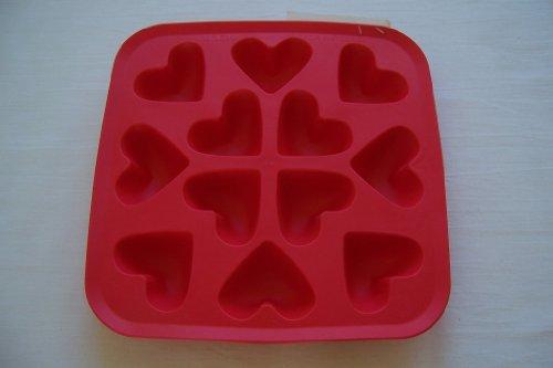 IKEA Plastis Synthetic Rubber Ice Cube Tray Heart Shaped