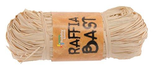Glorex 6 3804 012 - Raffiabast, 1 Bündel á ca. 50 g, natur gebleicht, zum Basteln und Dekorieren oder zum Binden von Gestecken und Sträußen