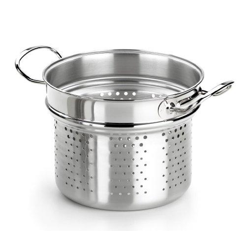 BRA Profesional - Cuece Pasta, 22 cm, Acero Inoxidable 18/10