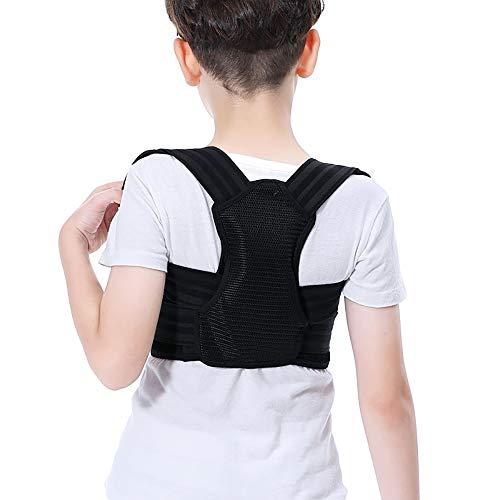 Posture Corrector Brace for Teens Kids Women, Adjustable Wide Upper Back Straightener Brace for Posture Correction, Comfort Soft Posture Brace for Neck Shoulder Spinal Hunchback Pain Relief (S)